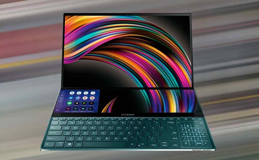 Resultado de imagen para Se lanza en Perú su laptop Asus ZenBook Pro Duo con doble pantalla